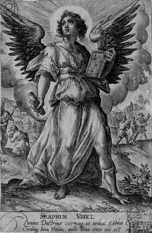 Late 16th or early 17th centuries. Engraving invented and published by the artist. Plate 3 of the Angelorum Icones. Biblioteca Nacional de España